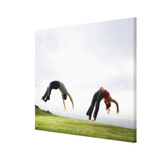 Acrobats and Contortionists 3 Canvas Print
