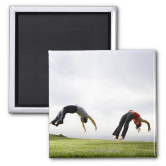Acrobats and Contortionists 3 Square Magnet
