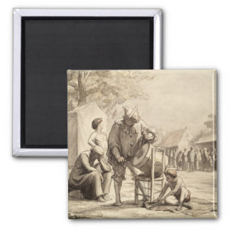 Acrobats at the Fair c.1865-69 Square Magnet