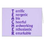 Acronym for Teachers Greeting Card
