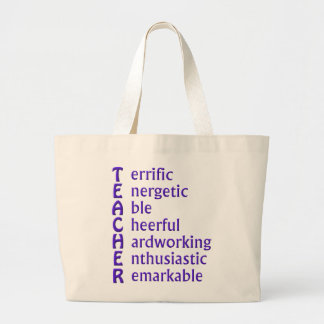 Acronym for Teachers Large Tote Bag