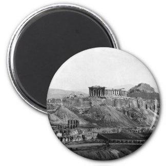 Acropolis ~ Acropolis of Athens Greece 1865 Fridge Magnet