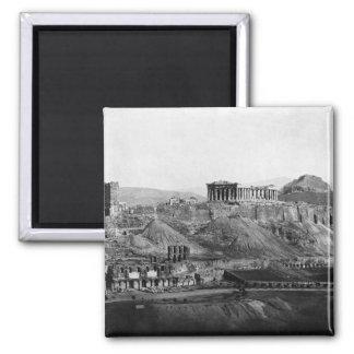 Acropolis ~ Acropolis of Athens Greece 1865 Square Magnet