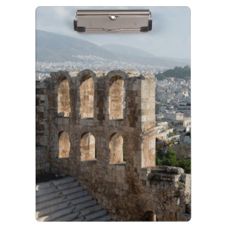Acropolis Ancient ruins overlooking Athens Clipboard