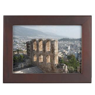 Acropolis Ancient ruins overlooking Athens Keepsake Box