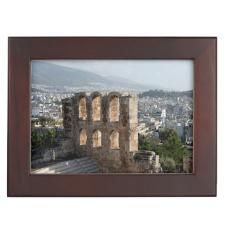 Acropolis Ancient ruins overlooking Athens Keepsake Boxes