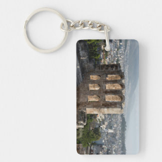 Acropolis Ancient ruins overlooking Athens Acrylic Keychain