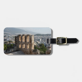 Acropolis Ancient ruins overlooking Athens Luggage Tag