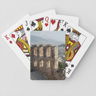 Acropolis Ancient ruins overlooking Athens Playing Cards