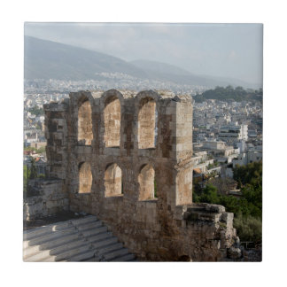 Acropolis Ancient ruins overlooking Athens Tile