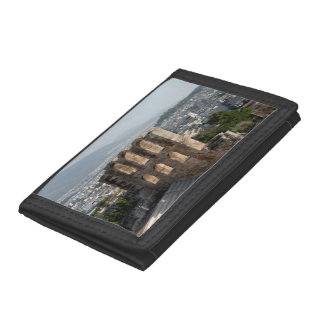 Acropolis Ancient ruins overlooking Athens Tri-fold Wallet