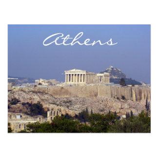 acropolis athens postcard