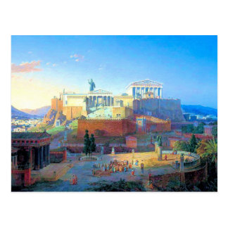 Acropolis in Greece Postcard