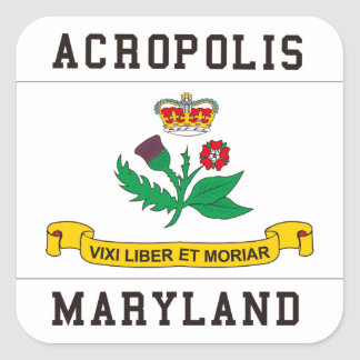 Acropolis Maryland Square Sticker