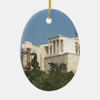 Acropolis of Athens Architecture Of Ancient Greece Ceramic Oval Decoration