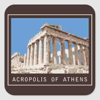 Acropolis of Athens Square Sticker
