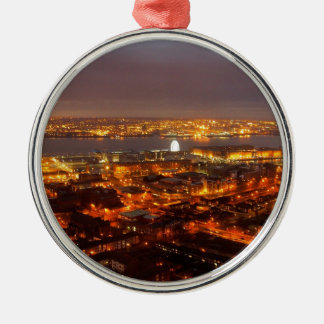 Across Liverpool to the River Mersey & Wirral Christmas Ornament