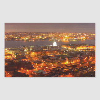 Across Liverpool to the River Mersey & Wirral Rectangular Sticker