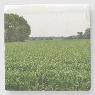 Across the cornfield stone coaster