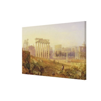 Across the Forum, Rome, 1828 (w/c and gouache over Canvas Print