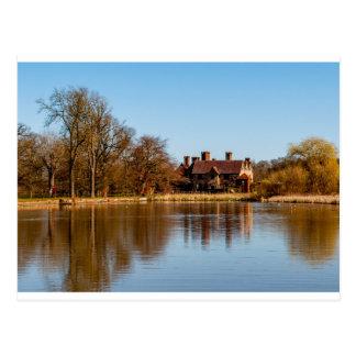 Across the lake. postcard