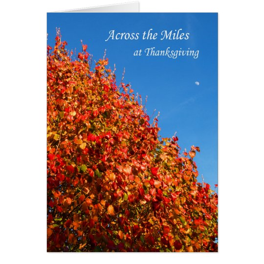 Across the Miles at Thanksgiving Card