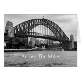 Across The Miles from Sydney Greeting Card