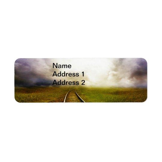 Across The Miles Return Address Label