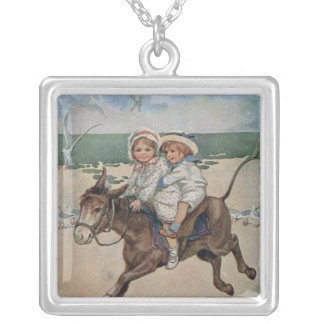 Across the Sands Silver Plated Necklace