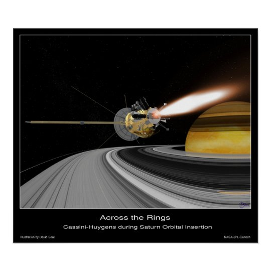 Across the Saturn Rings Poster