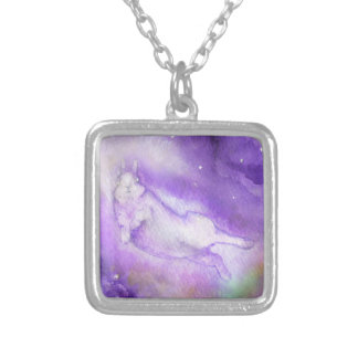 ACROSS THE UNIVERSE SILVER PLATED NECKLACE
