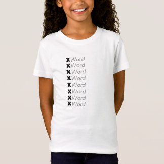 "Acrostic Name Template ""Customize It"" T-Shirt"