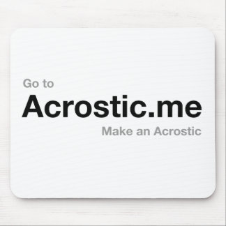 Acrostic Poem 50% donated to persecuted Christians Mouse Pad