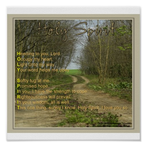 Acrostic Poem - HOLY SPIRIT Poster