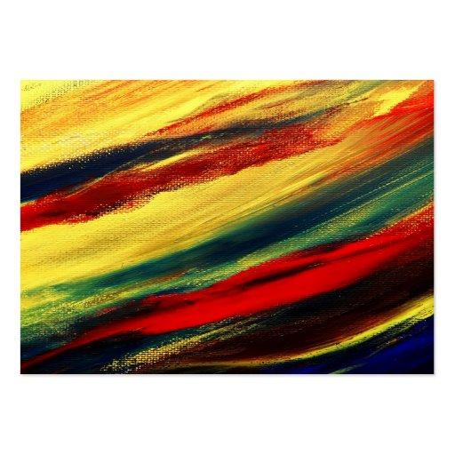 Acrylic abstract on canvas business card