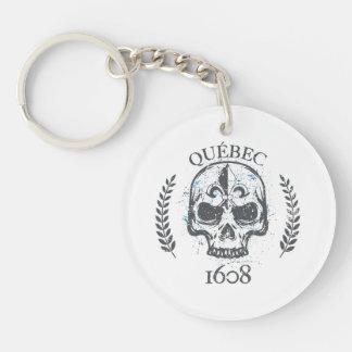 acrylic Carry-key Quebec biker skull/skull Key Ring
