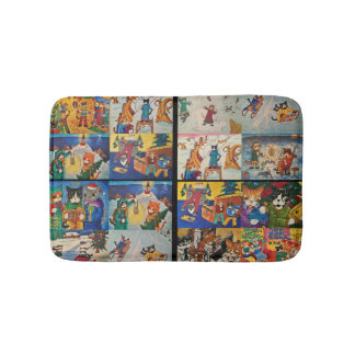 Acrylic Cats collage Bath Mat