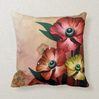 Acrylic Flowers Painting Artwork Throw Pillow Cushions
