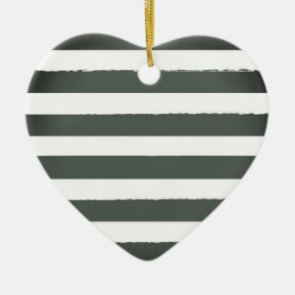 Acrylic heart with vintage stripes ceramic heart decoration