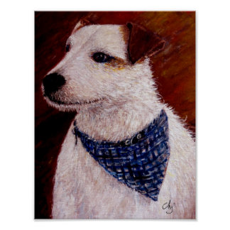 Acrylic Jack Russel Poster