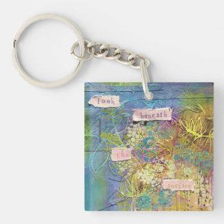 Acrylic keychain - Look beneath the surface