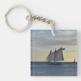 Acrylic Keychain with Sailboat