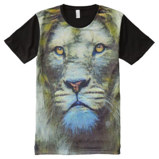 Acrylic Lion Surreal Oil Painting All-Over Print T-Shirt