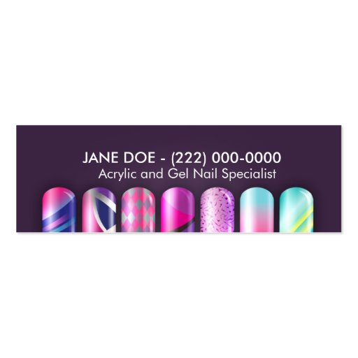 Acrylic Nail Specialist Business Appointment Card Business Card