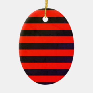 Acrylic Old striped vintage Ornament
