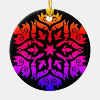 Acrylic ornament : purple, black