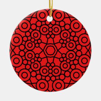 Acrylic ornament : red, black