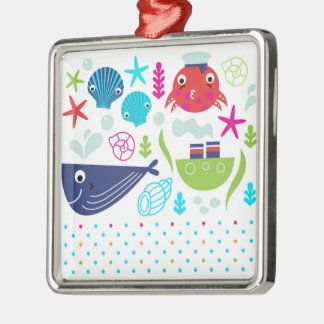 Acrylic ornament with Sea creatures