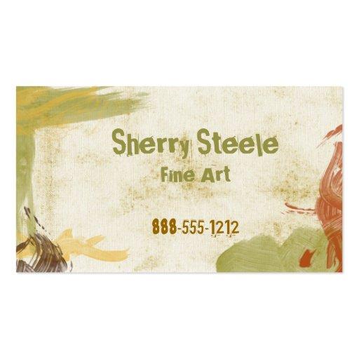 Acrylic Paint Business Card Template