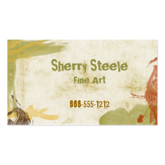 Acrylic Paint Pack Of Standard Business Cards